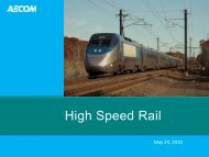 High Speed Rail - The Community Transportation Association of ...