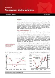Singapore: Sticky inflation - the DBS Vickers Securities Equities ...