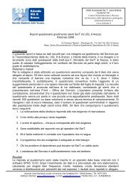 1 Report questionario gradimento utenti SerT Az ... - Ce.Do.S.T.Ar.