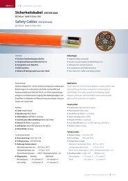 Sicherheitskabel DIN VDE 0266 Safety Cables DIN VDE 0266