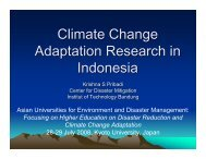 Climate Change Adaptation Research in Indonesia - auedm