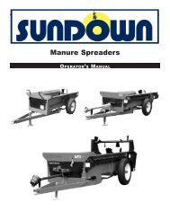 Manure Spreader Manual - JS Woodhouse