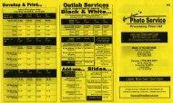 Download our Processing Price List (PDF) - Gordon's Photo Service