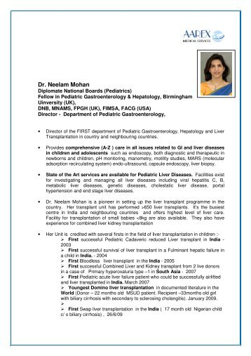 Dr. Neelam Mohan - Surgery in India