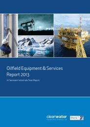 Oilfield Equipment & Services Report 2013 - Clearwater Corporate ...