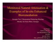 Monitored Natural Attenuation & Examples if In-situ Enhanced ...