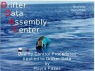 Drifter Quality Control Procedures Presentation - NOAA