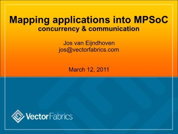 Mapping applications into MPSoC concurrency & communication