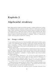 Kapitola 2 Algebraické struktury