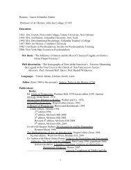 1 Resume: Laurie Schneider Adams Professor of Art History, John ...