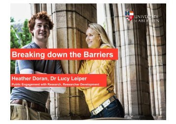 Breaking down the Barriers - National Co-ordinating Centre for ...