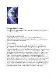 Schepping of evolutie - Ben Hobrink.pdf - dewoesteweg.nl