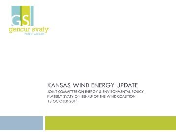 Greensburg Wind Farm - Kansas Legislature