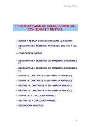 1º. ESTRATEGIAS DE CÁLCULO MENTAL CON SUMAS Y RESTAS