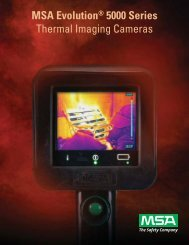 MSA Evolution® 5000 Series Thermal Imaging Cameras