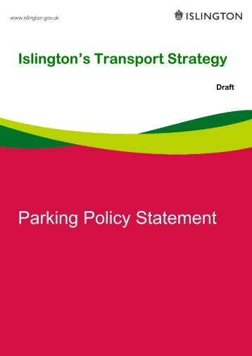 Parking Policy Statement - Islington Council