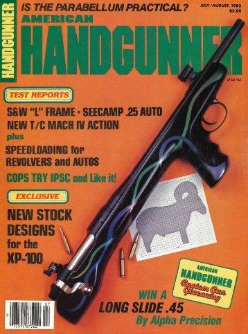 American Handgunner July/August 1982 - Jeffersonian