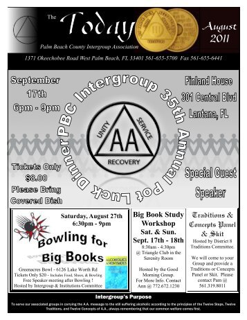 August - Palm Beach County Intergroup of Alcoholics Anonymous