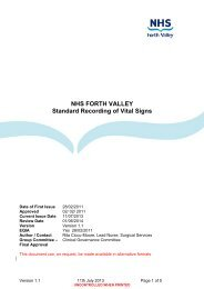 NHS FORTH VALLEY Standard Recording of Vital Signs