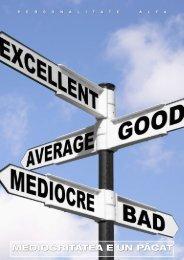 Mediocritatea este un pacat - Personalitate Alfa