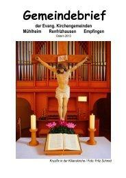 Gemeindebrief Frühjahr 2013 - Evangelische Kirchengemeinde ...