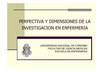 perpectiva y dimensiones de la investigacion en enfermeria