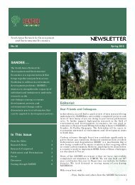 Newsletter No. 20, Spring 2010 - South Asian Network for ...