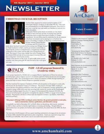 to view Newsletter - AmCham Haiti