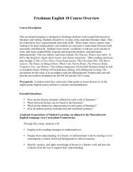 Freshman English 10 Course Overview