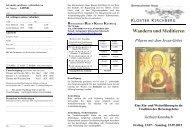 12-0740 Wandern und Meditieiren Gerhard ... - Kloster Kirchberg