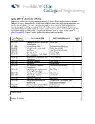 SP06 Co-Curricular Descriptions & Registration - StAR - Olin College