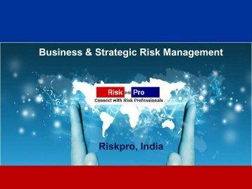 Business & Strategic Risk Management Riskpro, India