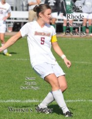 2012 Women's Soccer Media Guide - Rhode Island College Athletics