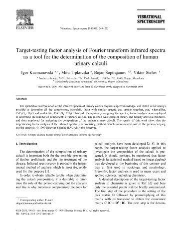 Target-testing factor analysis of Fourier transform infrared spectra as ...