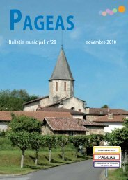 Informations municipales - Pageas