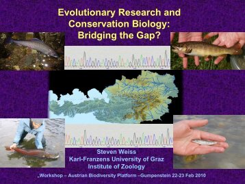 Evolutionary research and Conservation Biology. bridging the gap.