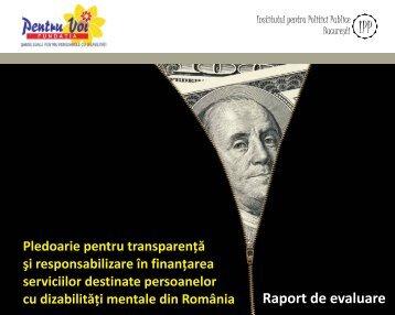Raport de evaluare - Institutul pentru Politici Publice