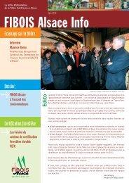 FIBOIS Alsace Info - Juin 2012