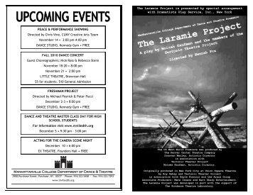 The Laramie Project - Mvilledth.org
