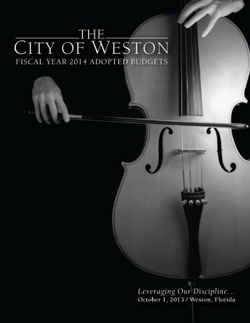 FY2014 Adopted Budget - City of Weston