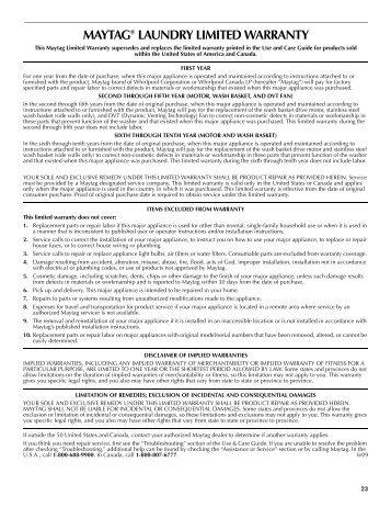 The Vetter Craftsmanship Limited Warranty Vetter Windows