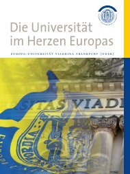 Wir Viadrina! - Europa-Universität Viadrina Frankfurt