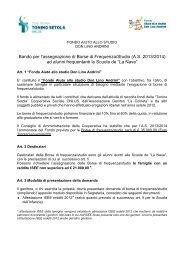 BANDO BORSE DI STUDIO & AVVISO 13-14 - Scuole