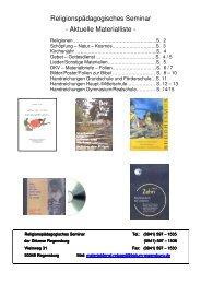 Religionspädagogisches Seminar - Aktuelle Materialliste -