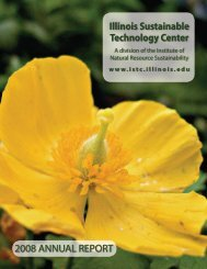 Illinois Sustainable Technology Center's 2008 Annual Report