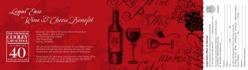 Legal Ease Wine & Cheese Benefit - Thomas M. Cooley Law School