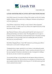 MEDIA RELEASE - Lloyds Banking Group - Lloyds TSB