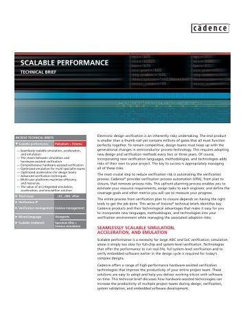 SCALABLE PERFORMANCE - Cadence - Cadence Design Systems