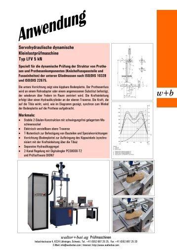 Servohydraulische dynamische Kleinlastprüfmaschine Typ LFV 5 kN
