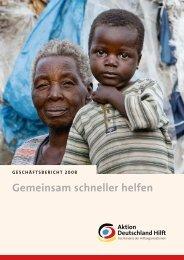 Geschäftsbericht 2008 - Aktion Deutschland Hilft
